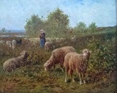 Bergère et son troupeau