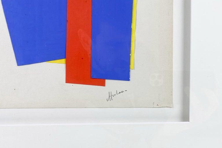 Mid-Century Modern Albert Chubac Collage, circa 1950, France For Sale