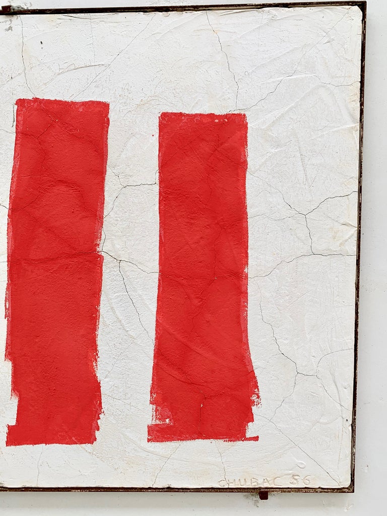 Mid-Century Modern Albert Chubac Concrete Painting, 1956, France For Sale