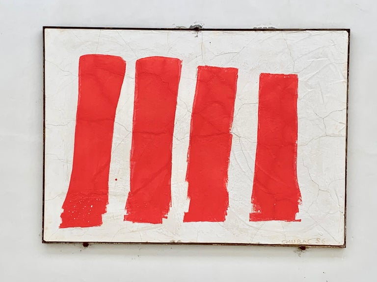 Albert Chubac Concrete Painting, 1956, France In Good Condition For Sale In Girona, Spain