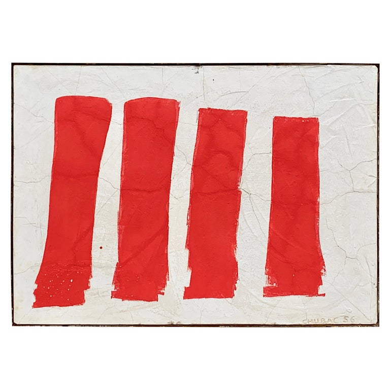 Albert Chubac Concrete Painting, 1956, France For Sale