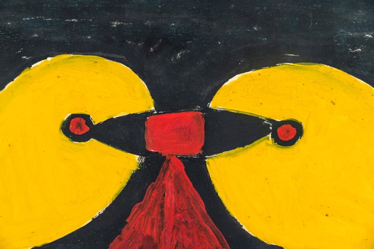 French Albert Chubac, Painting, France, circa 1960 For Sale