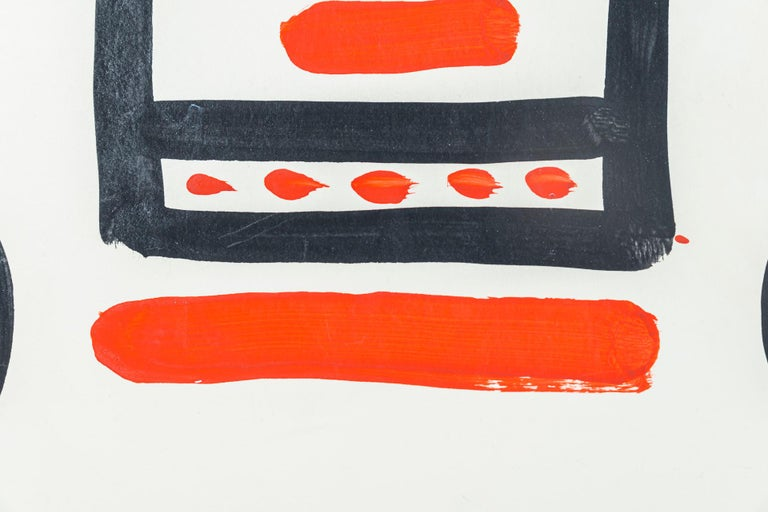 Mid-20th Century Albert Chubac, Face composition, Painting, France, circa 1960 For Sale