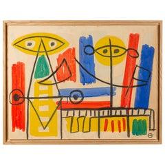 Albert Chubac, Painting, France, circa 1960