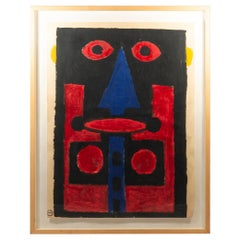 Albert Chubac, Painting, Mixed-Media, circa 1965, France