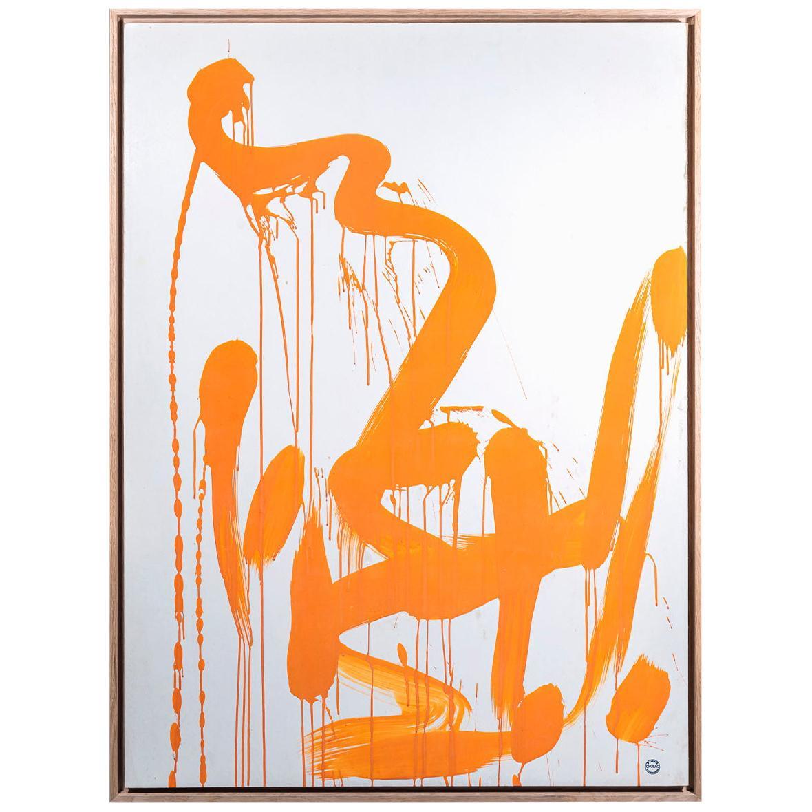 Albert Chubac, Abstract composition, Painting, circa 1960, France