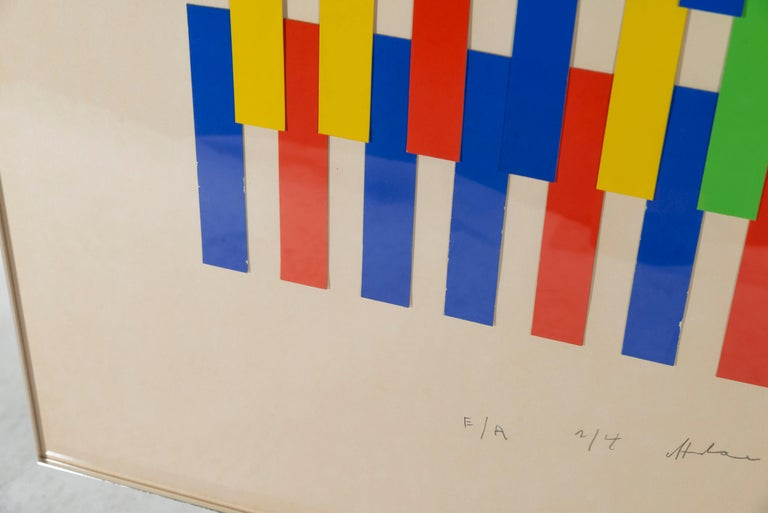 French Albert Chubac, Painting, Signed, circa 1980, France For Sale