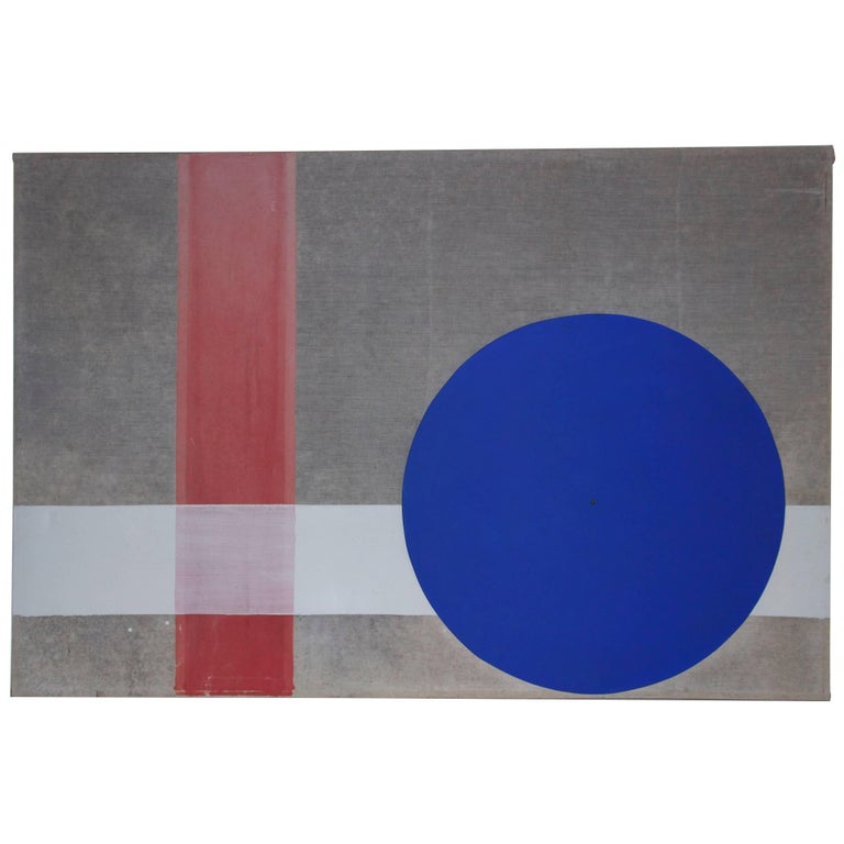Albert Chubac, Painting, Paint on Canvas and Collage, circa 1960