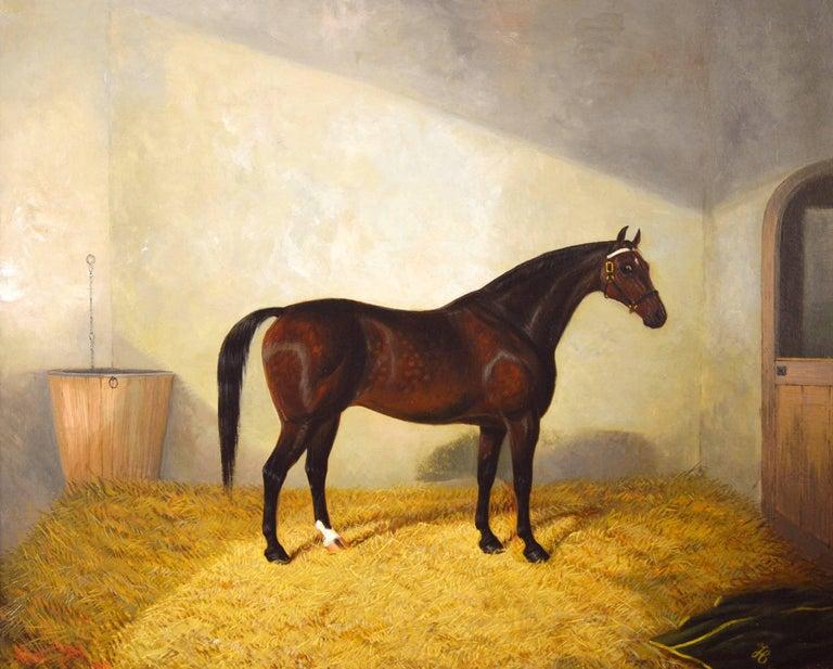 A Bay Hunter - Painting by Albert Clark