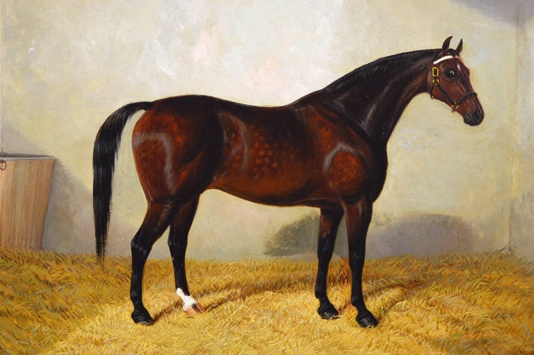 A Bay Hunter - Victorian Painting by Albert Clark