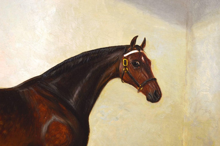 A Bay Hunter - Brown Animal Painting by Albert Clark