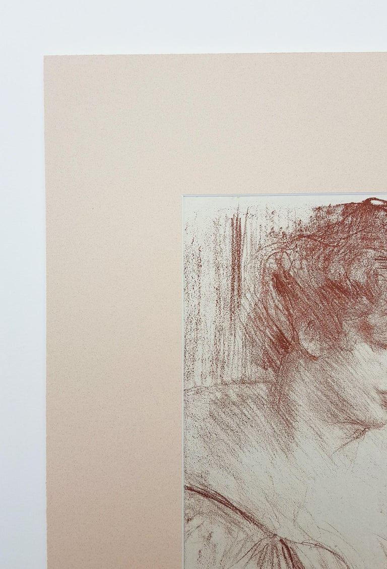 Etude (Study) - Beige Portrait Print by Albert de Belleroche