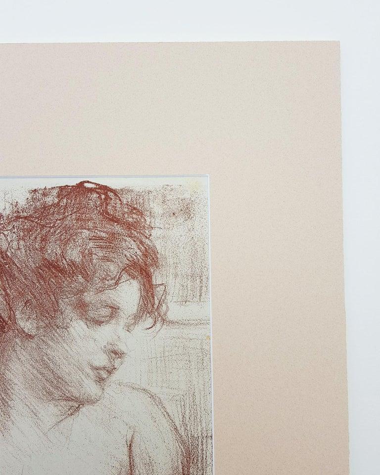 An original lithograph on thin wove paper by Welsh artist Albert de Belleroche (1864-1944) titled