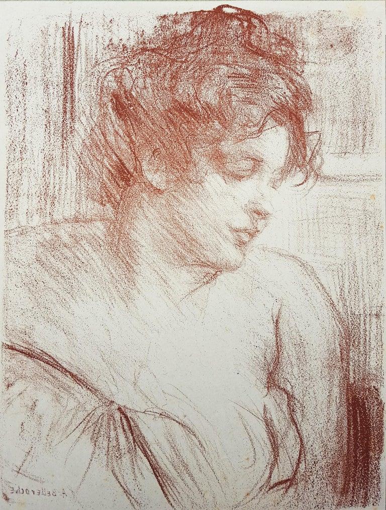 Albert de Belleroche Portrait Print - Etude (Study)