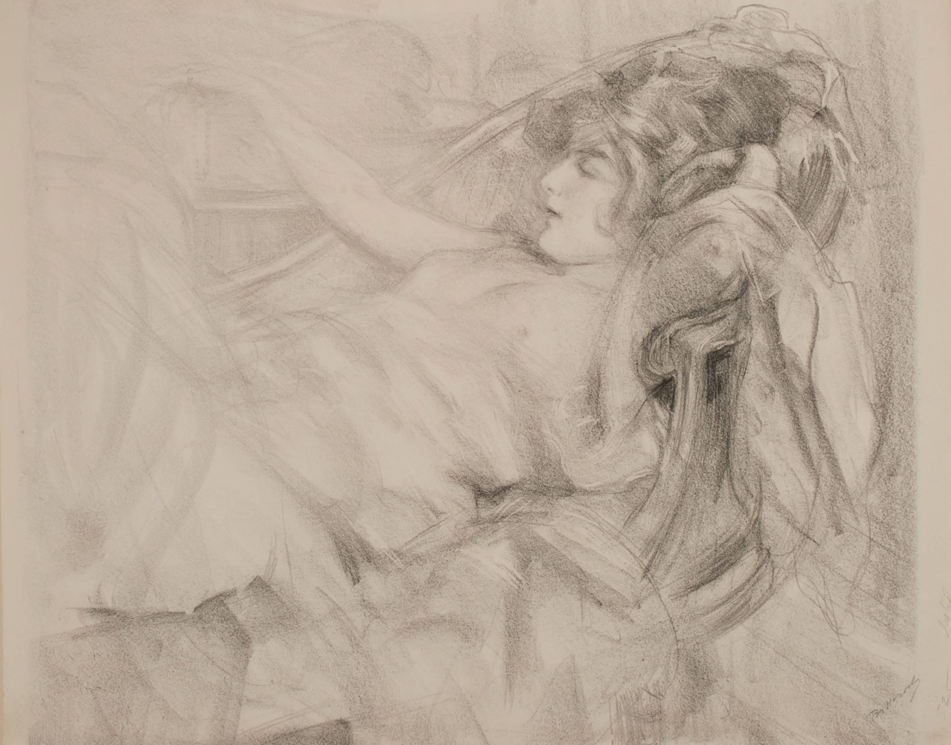 Reclining Nude Holding a Necklace