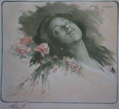 Albine (Asleep Woman) - Original lithograph (1897/98)