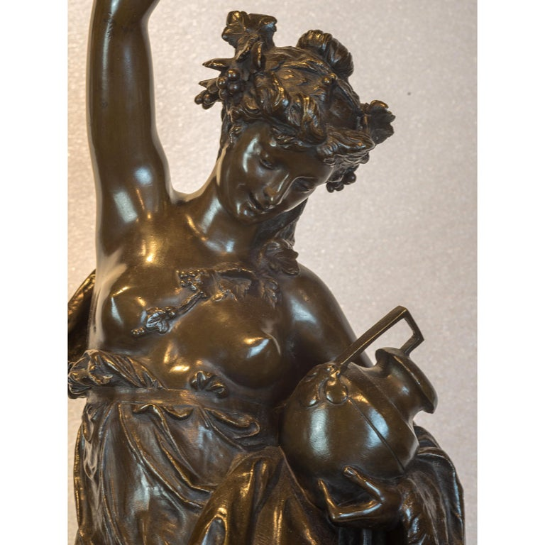 Fine Patinated Bronze Sculpture by Albert Carrier-Belleuse For Sale 2