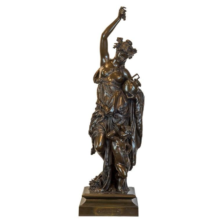 Albert-Ernest Carrier-Belleuse Figurative Sculpture - Fine Patinated Bronze Sculpture by Albert Carrier-Belleuse