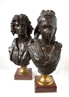 Pair of 19th Century Busts by Albert Ernest Carrier-Belleuse