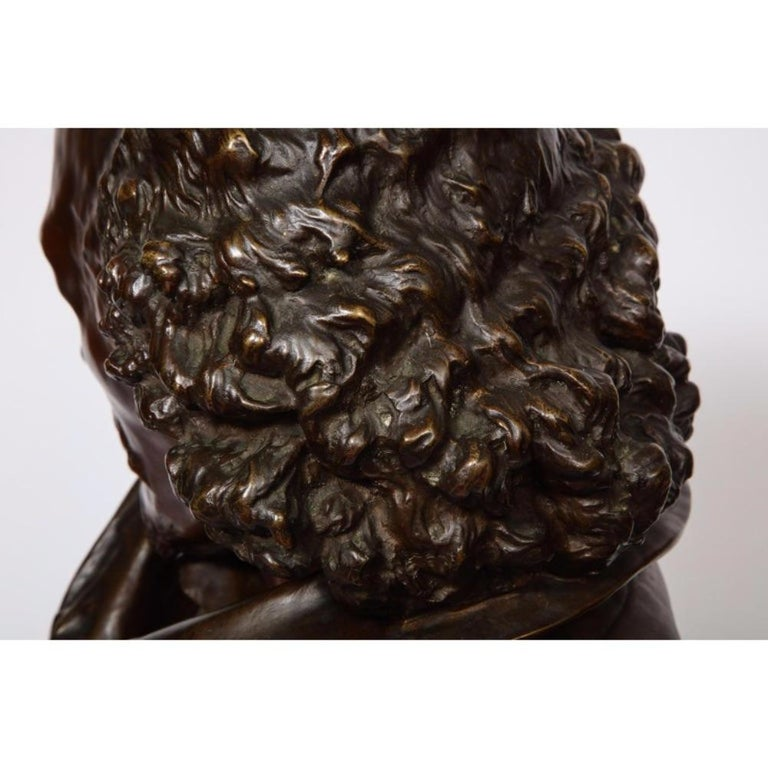 Rare French Bronze Bust of William Shakespeare by Carrier Belleuse and Pinedo For Sale 9