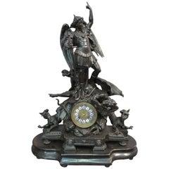 Albert Ernest Carrier-Belleuse St Michael and Devil after Guido Reni