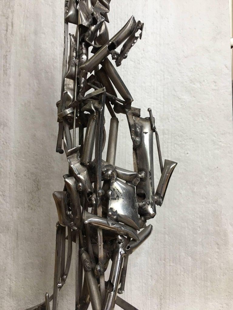 Mid-20th Century Albert Feraud Brutalist Mid-Century Modern Abstract Metal Sculpture, France  For Sale