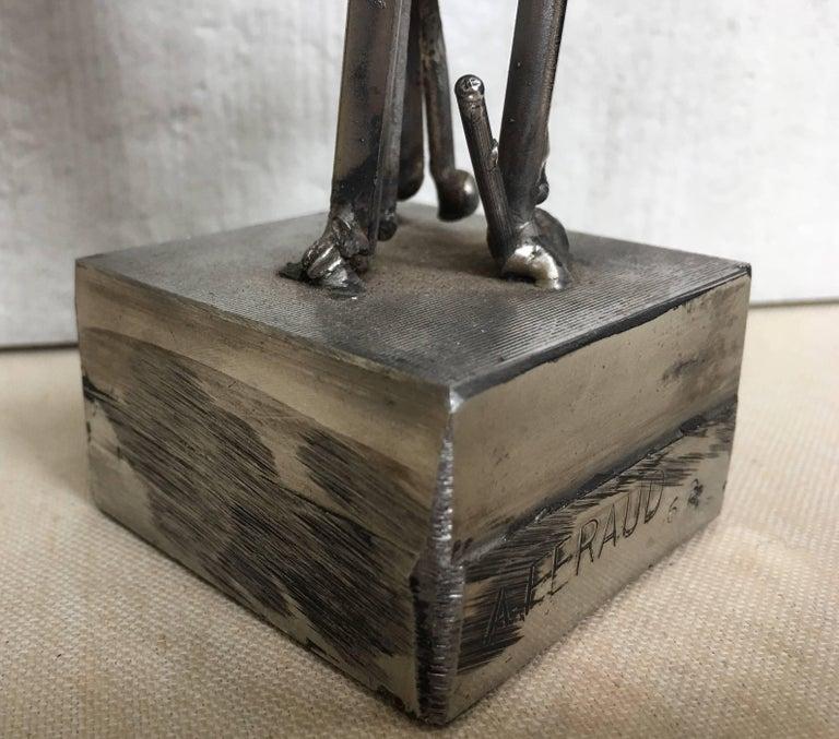 Albert Feraud Brutalist Mid-Century Modern Abstract Metal Sculpture, France  For Sale 4