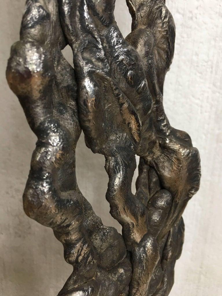 Albert Feraud Brutalist Mid-Century Modern Abstract Metal Sculpture, France For Sale 5