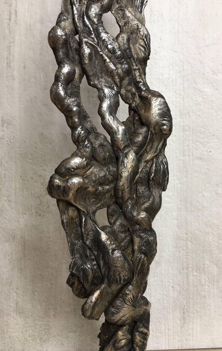 Albert Feraud Brutalist Mid-Century Modern Abstract Metal Sculpture, France For Sale 2