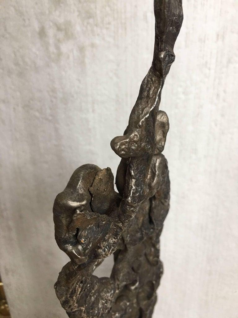 Albert Feraud Brutalist Mid-Century Modern Abstract Metal Sculpture, France For Sale 3