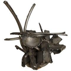 Albert Feraud Brutalist Mid-Century Modern Metal Sculpture, France