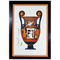 Albert Genick, a Lithographic Print of an Ancient Greek Vase, an Amphora