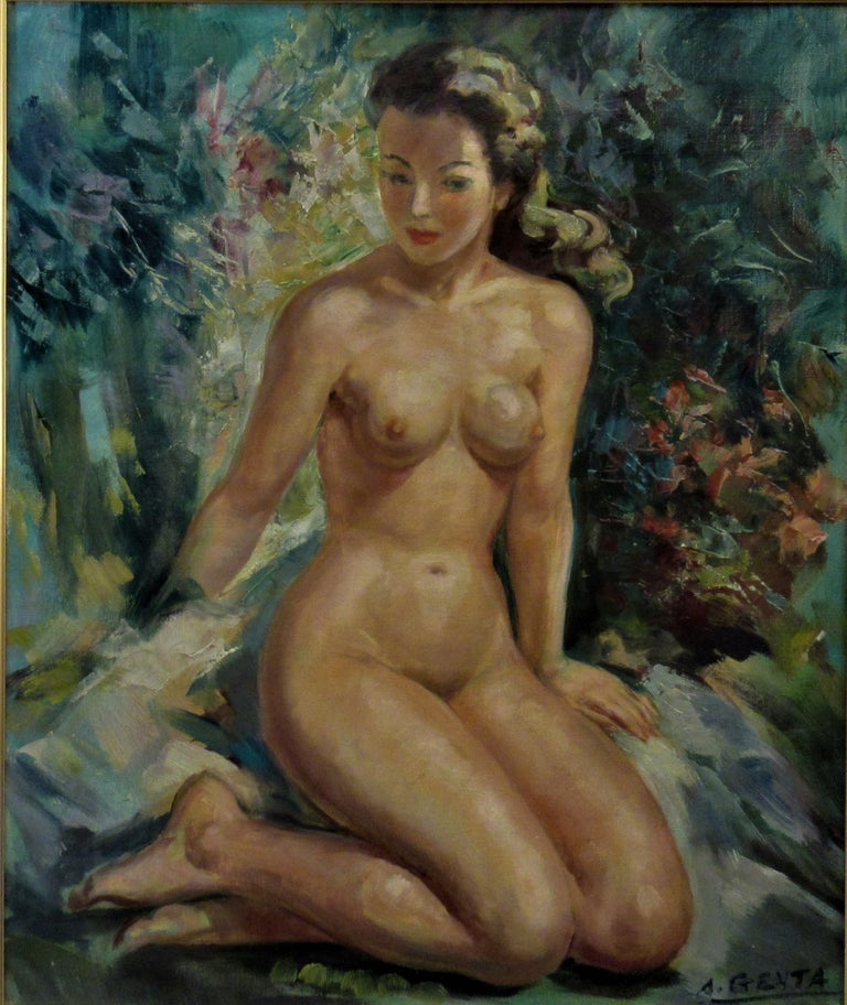 Nude - Painting by Albert Genta