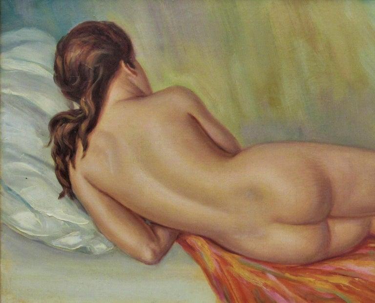 Nude - Impressionist Painting by Albert Genta