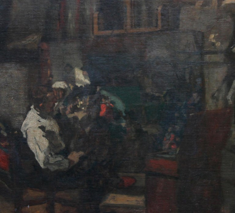 Self Portrait in Studio - British art 19thC Staithes School oil painting  For Sale 2