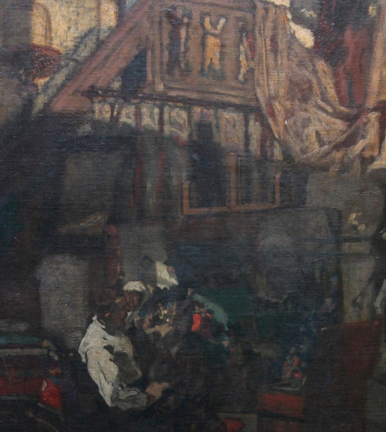 Self Portrait in Studio - British art 19thC Staithes School oil painting  For Sale 3