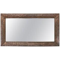 Albert Gilles Copper Repousse Art Nouveau/Deco Mirror