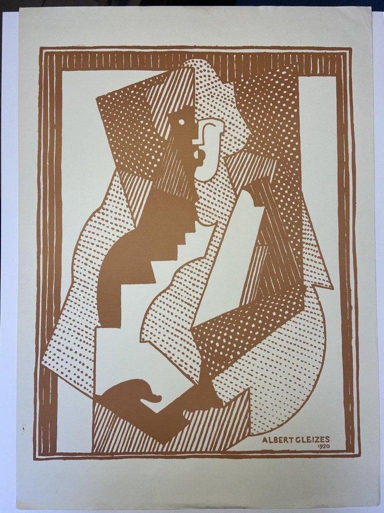 Albert Gleizes  print 1920 Orchard paper - Gray Abstract Print by Albert Gleizes