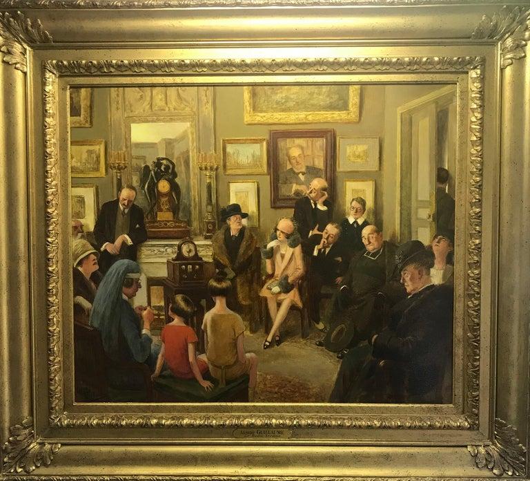 Radio Sermon - Painting by Albert Guillaume