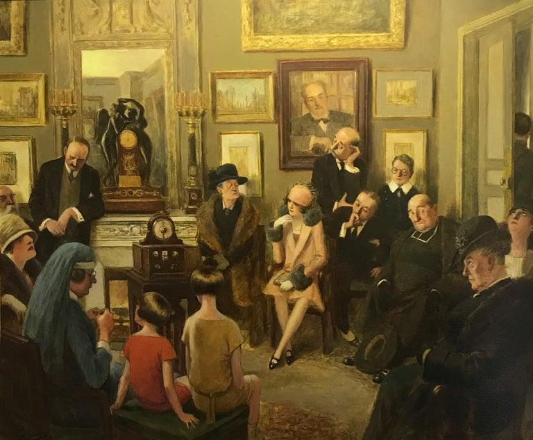 Albert Guillaume Figurative Painting - Radio Sermon