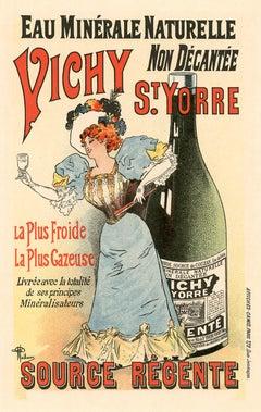 Eau Minérale Naturelle Vichy by Albert Guillaume, Belle Epoque lithograph, 1896