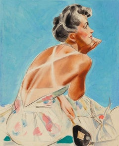 Tan Lines, The Saturday Evening Post cover study
