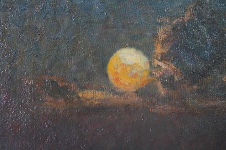 Brighton Pier - British Impressionist art 20's exhibited marine oil seascape For Sale 1