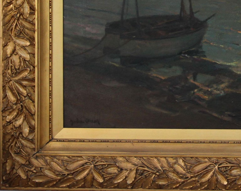 Brighton Pier - British Impressionist art 20's exhibited marine oil seascape For Sale 2