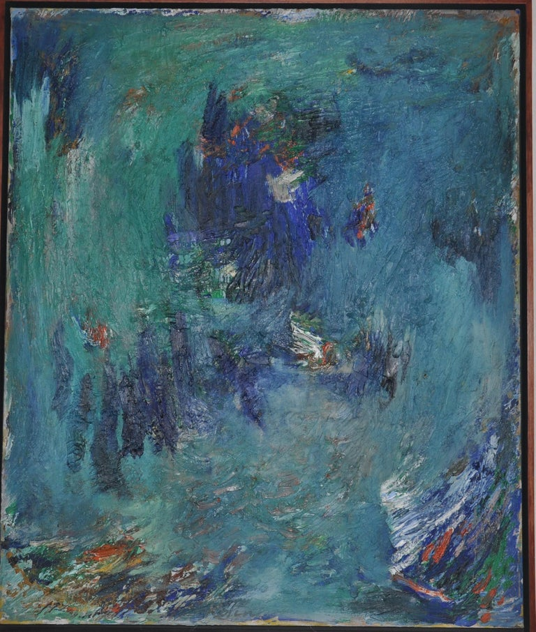 Emergence - Blue Abstract Painting by Albert Kotin