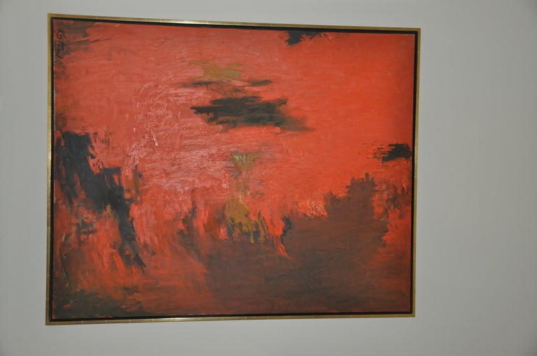 Inca - Abstract Expressionist Painting by Albert Kotin