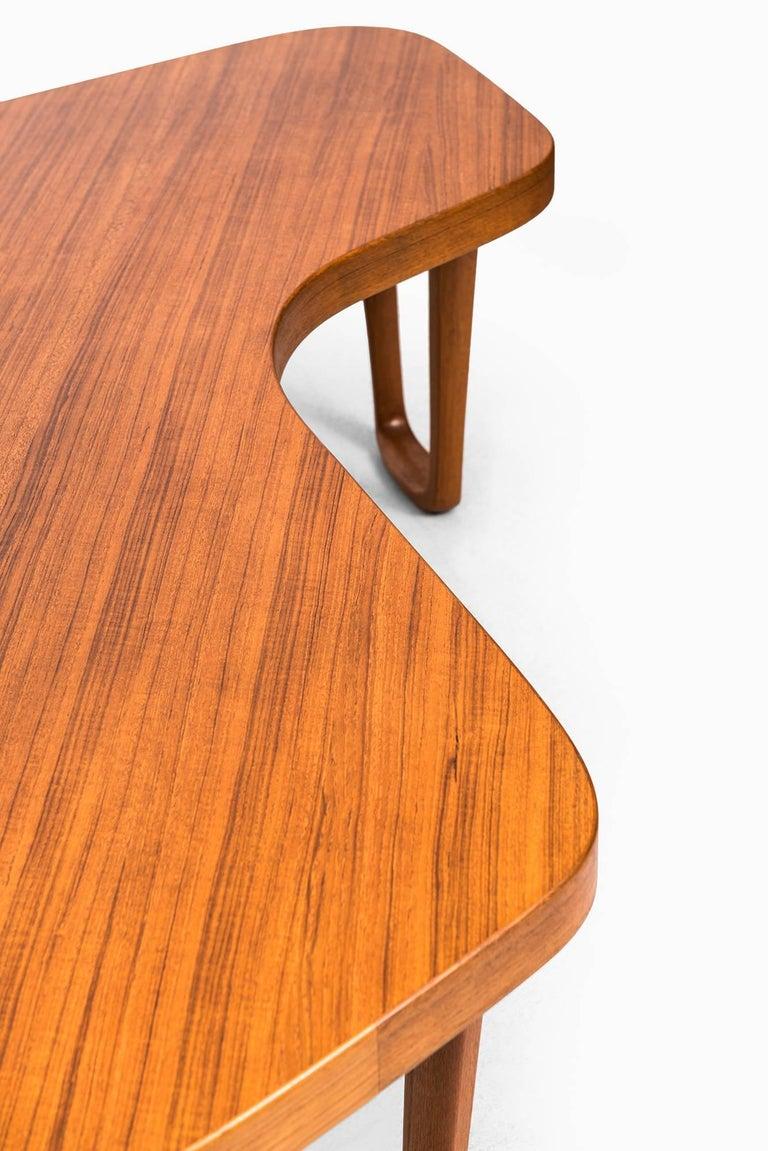 Scandinavian Modern Albert Larsson Coffee Table in Teak by Alberts in Tibro, Sweden For Sale