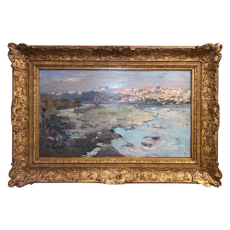 "Albert Lebourg ""The Edges of the Castle's Bridge Alley"" For Sale"