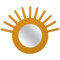 Albert Lecrerc  Poltronova 1965 Wall Mirror Sun Yellow Italian Design Sottsass