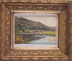 Small Impressionist French landscape oil by Peruvian artist Albert Lynch